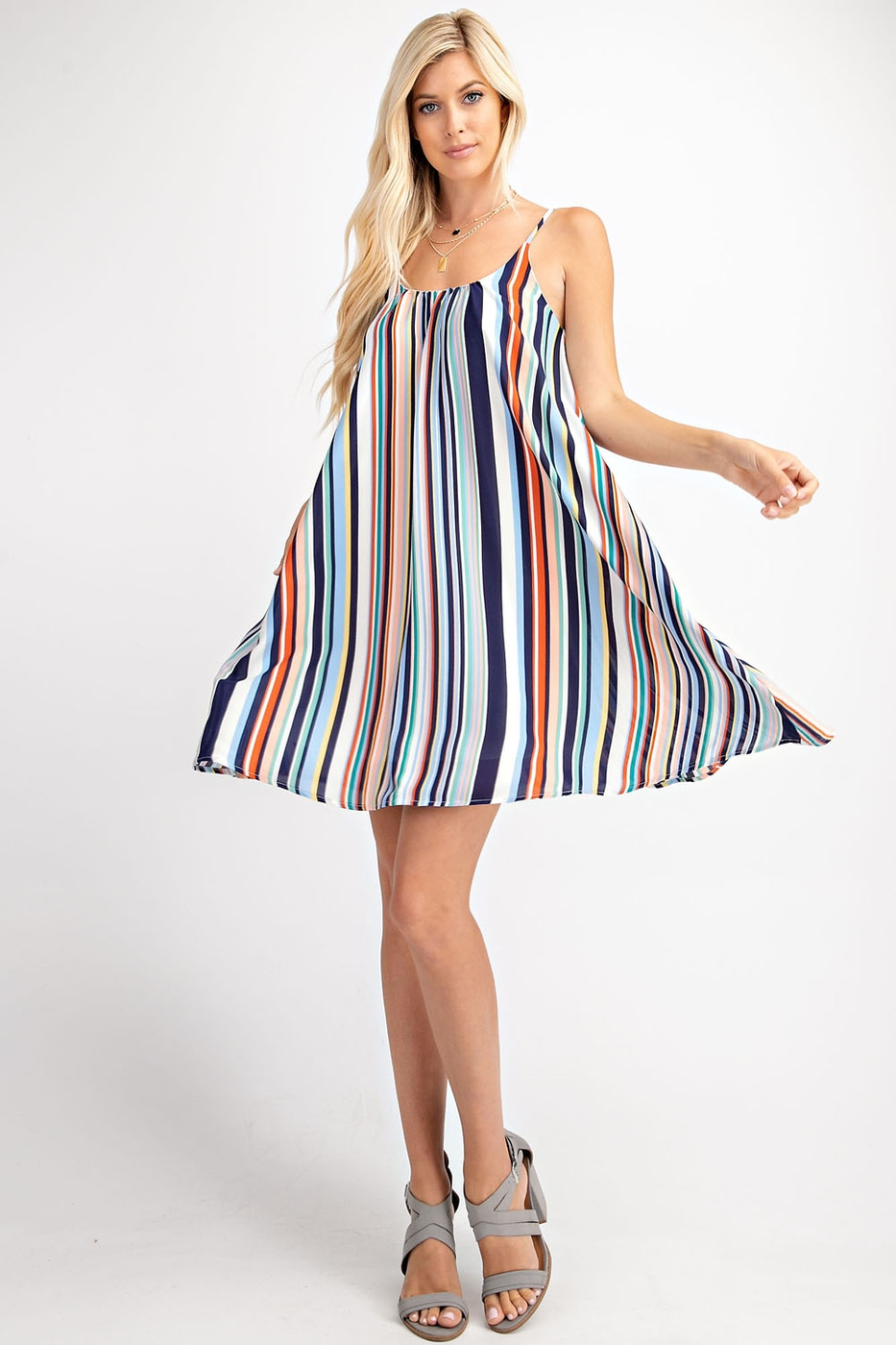 MULTI COLOR VERTICAL STRIPE SWING DR - orangeshine.com