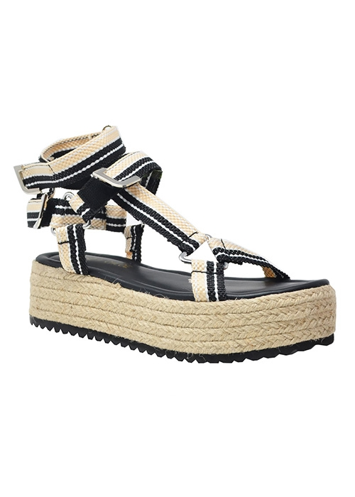 ESPADRILLE OPEN SANDAL WITH ANKLE ST - orangeshine.com
