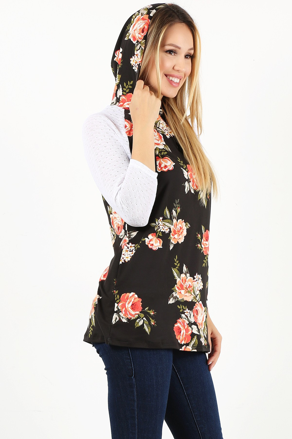 floral print relaxed top - orangeshine.com