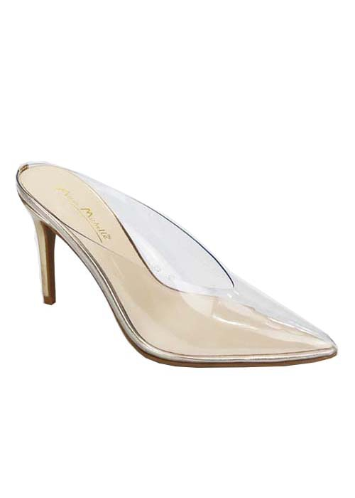 SLIP ON POINTY TOE CLEAR HIGH HEEL - orangeshine.com