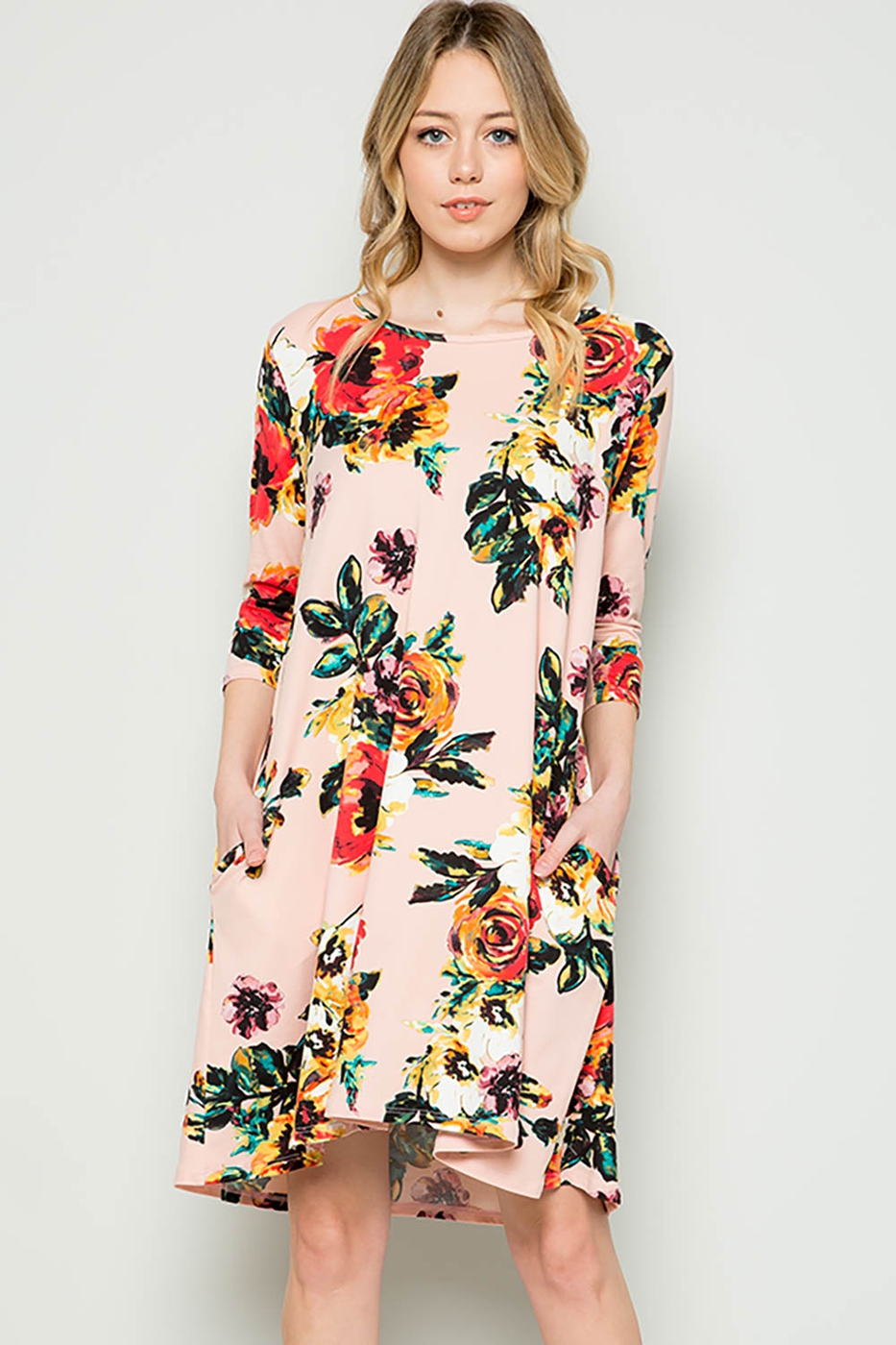 Floral Swing Dress - orangeshine.com