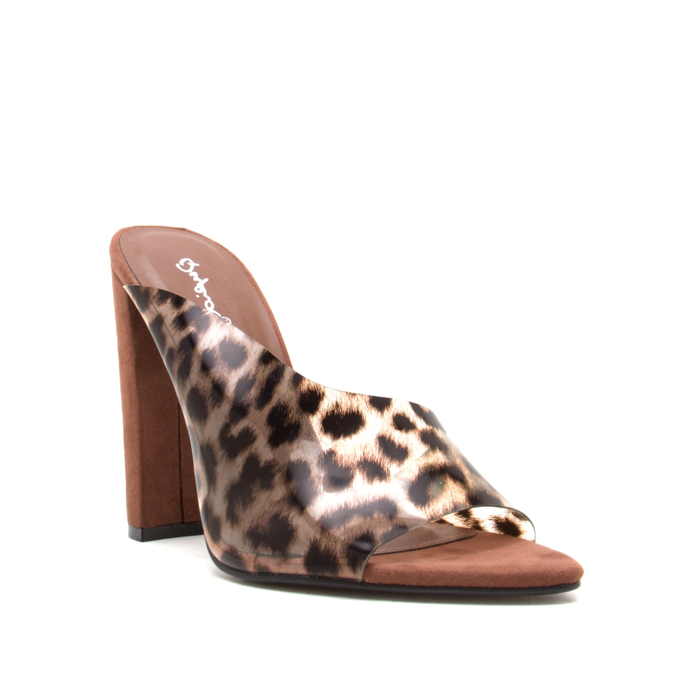 LEOPARD OPEN TOE SANDALS - orangeshine.com