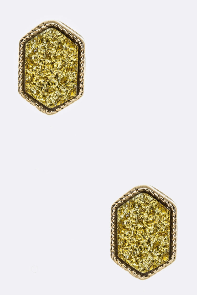 Druzy Stud Earrings - orangeshine.com