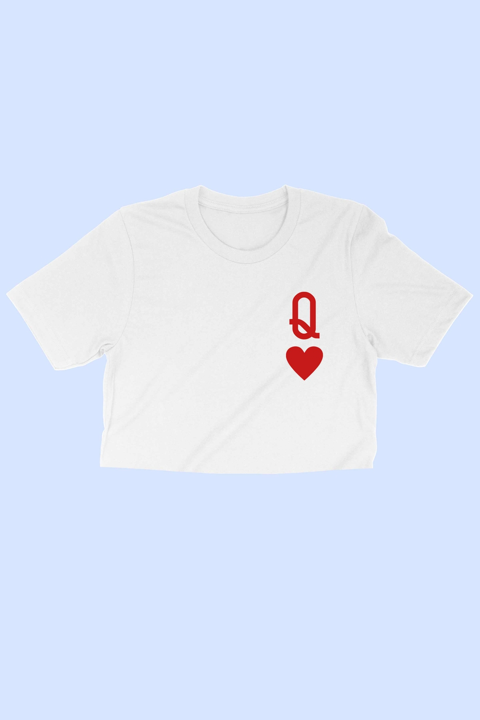 QUEEN OF HEARTS CROP TEE - orangeshine.com