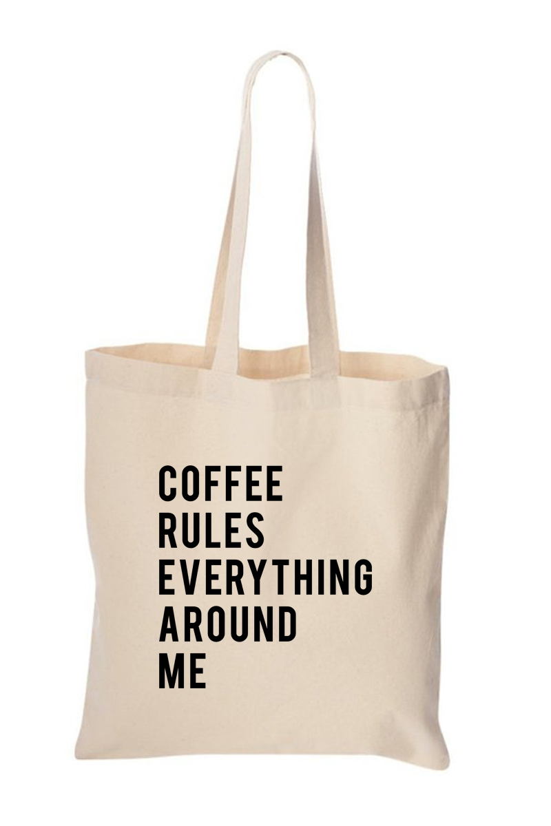 COFFEE RULES TOTE BAG - orangeshine.com