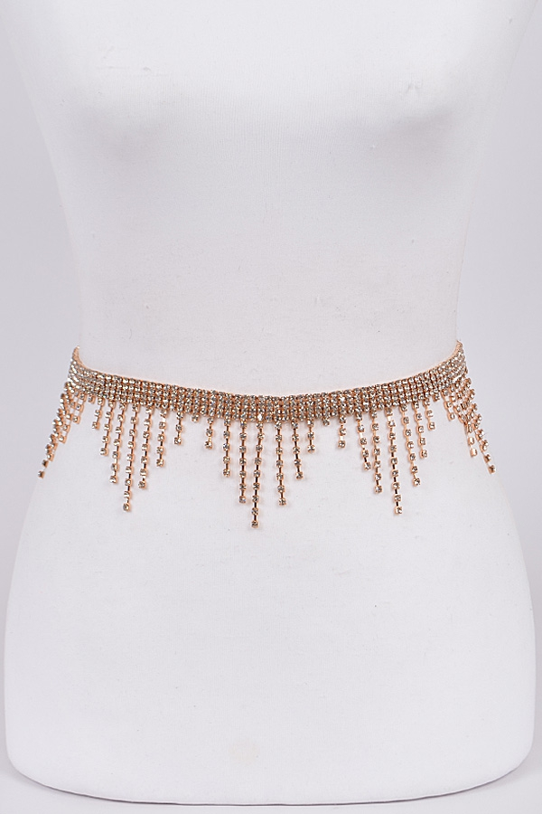 Falling Icicle Gemstone Belt - orangeshine.com