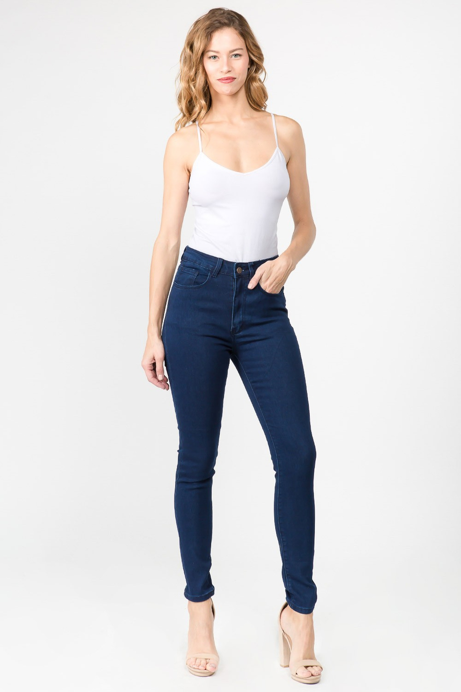 PLUS SIZE HIGH WAIST DENIM SKINNY  - orangeshine.com