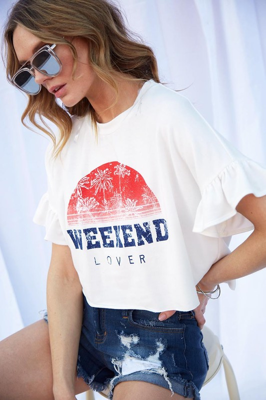 Weekend Lover Graphic Tee - orangeshine.com
