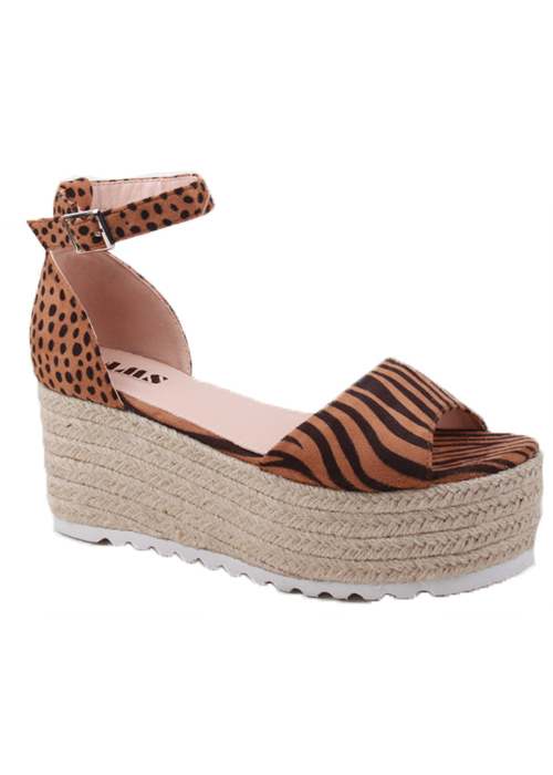 PEEP TOE ESPADRILLE OPEN WEDGE WITH  - orangeshine.com