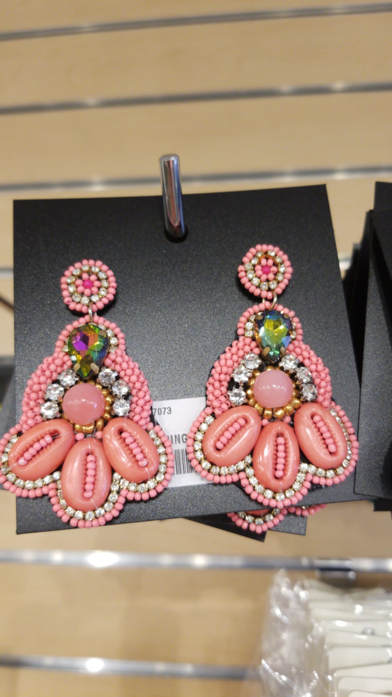 Boho Beaded Drop Earrings - orangeshine.com