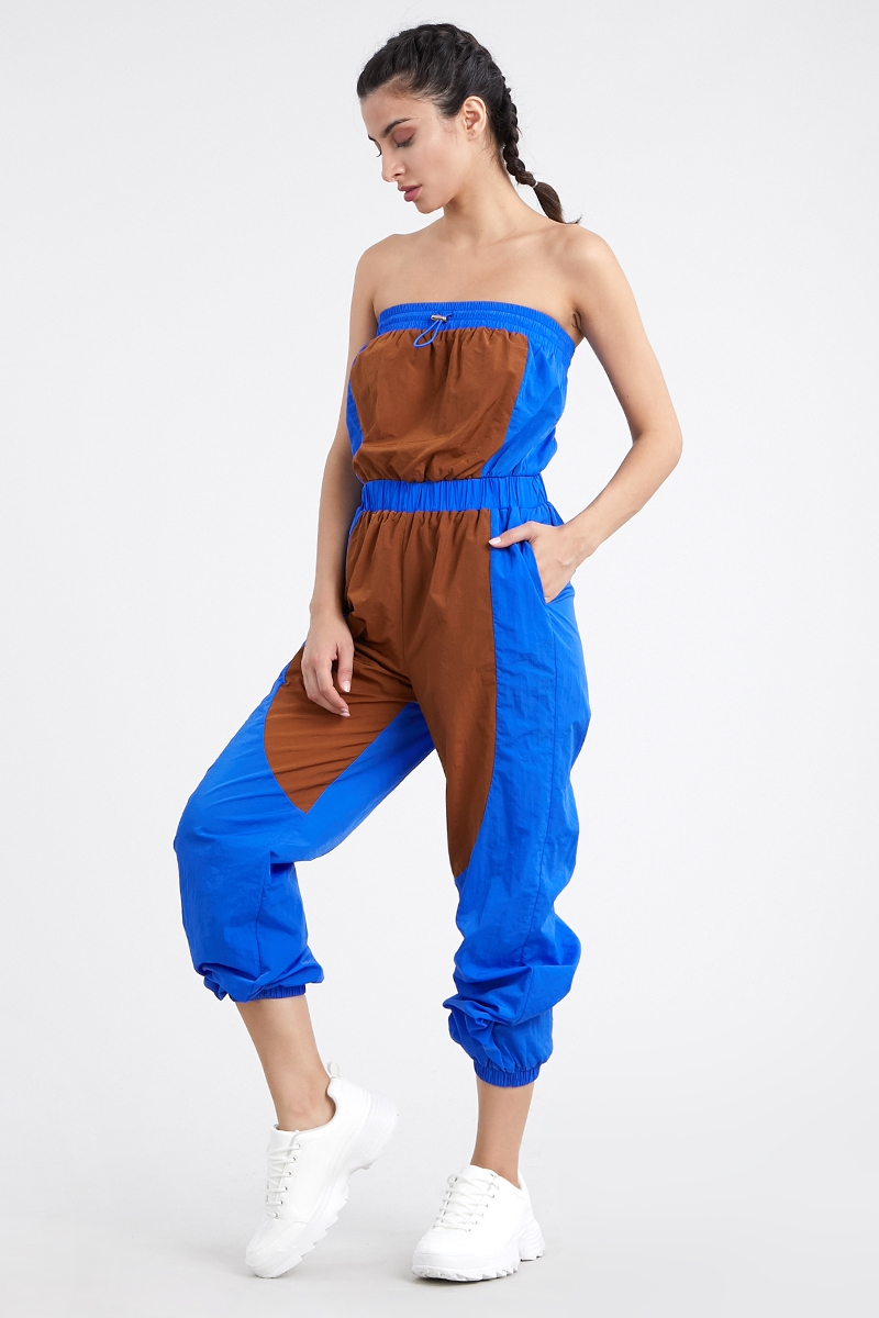 Sleeveless color block jumpsuit - orangeshine.com