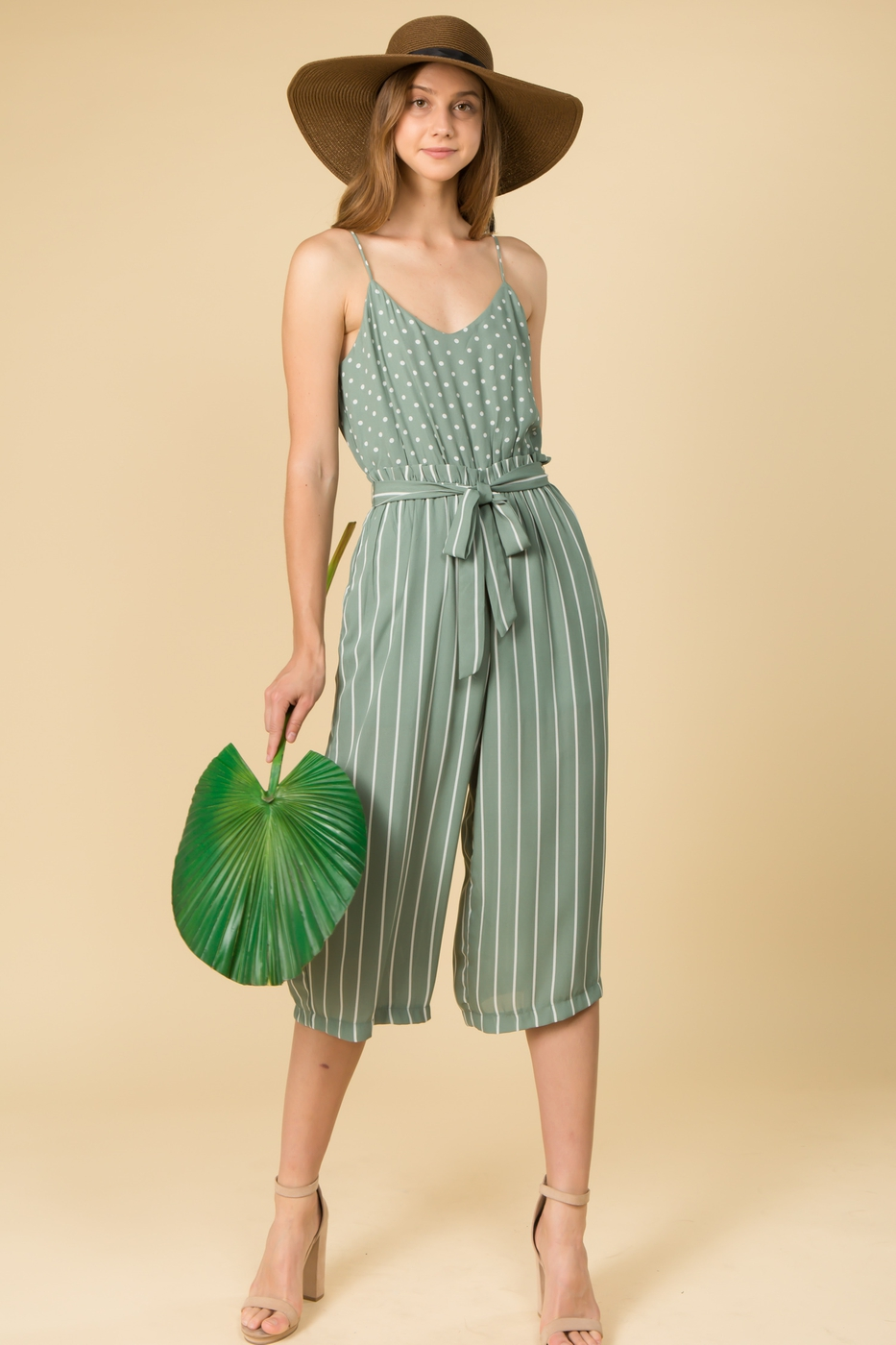 JUMPSUIT WITH WAIST TIES - orangeshine.com