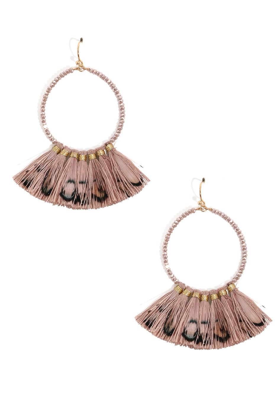 Tassel Fringe Ring Drop Earrings - orangeshine.com