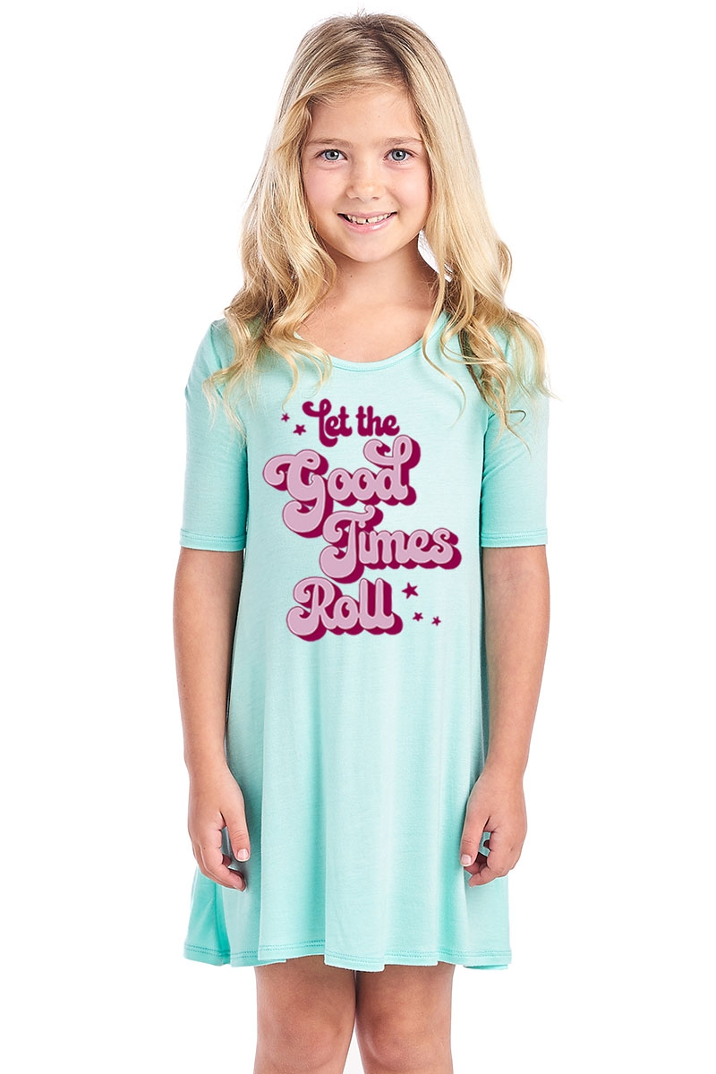 KIDS SHORT SLEEVE DRESS - orangeshine.com