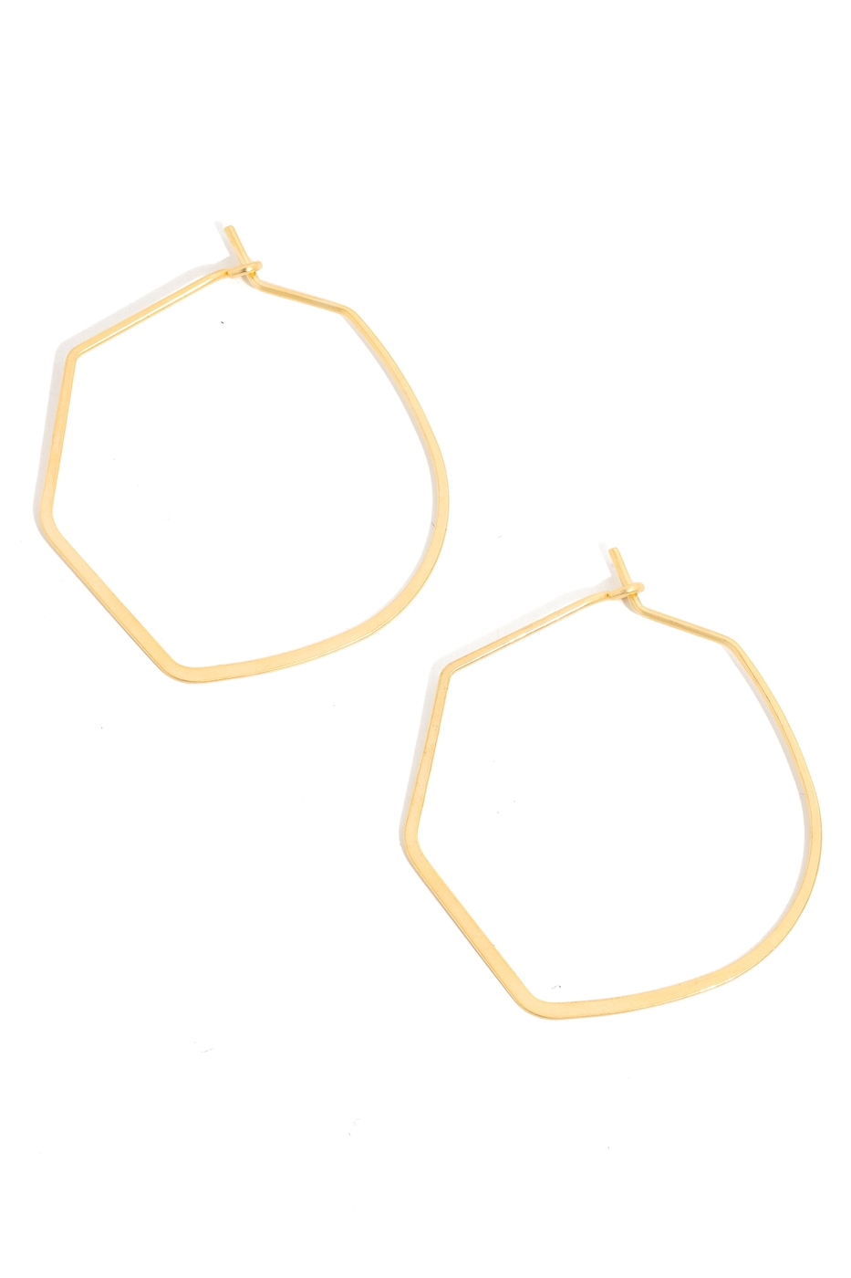 Abstract Metallic Geo Hoop Earrings - orangeshine.com