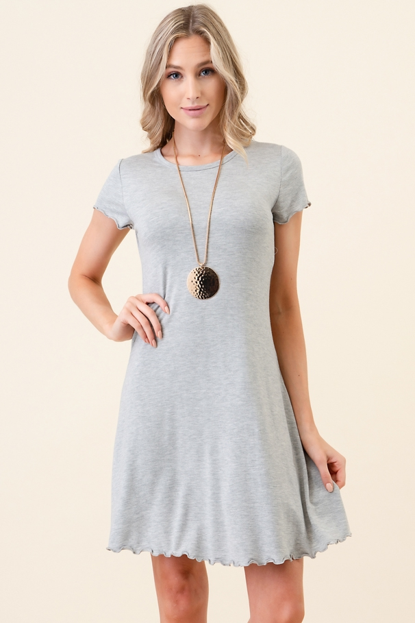 Merrow Hem A Line Short Dress - orangeshine.com