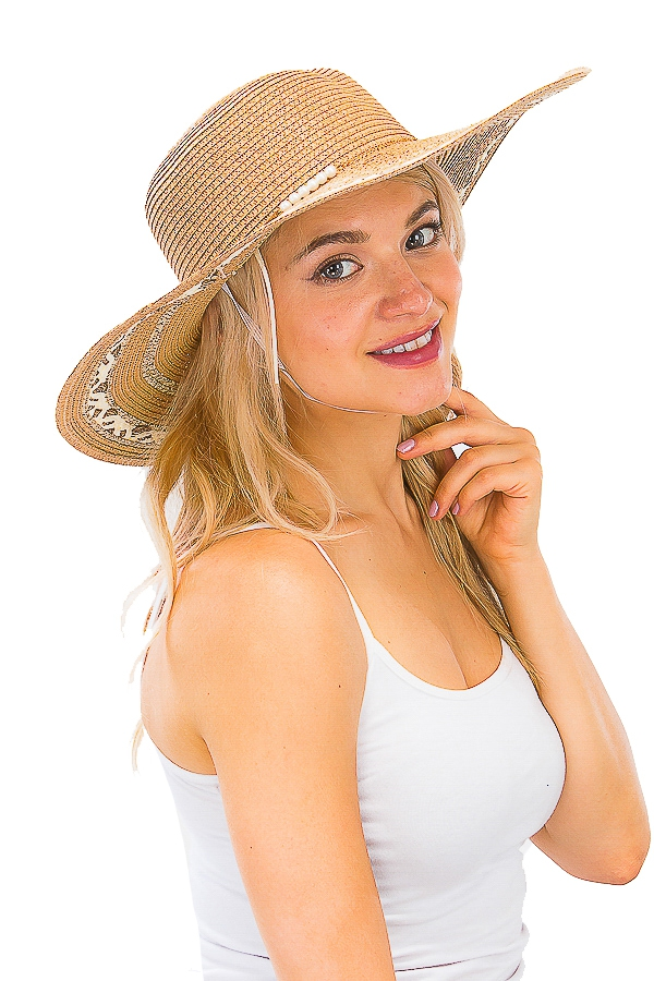 Straw Big Brim Floppy Hat - orangeshine.com
