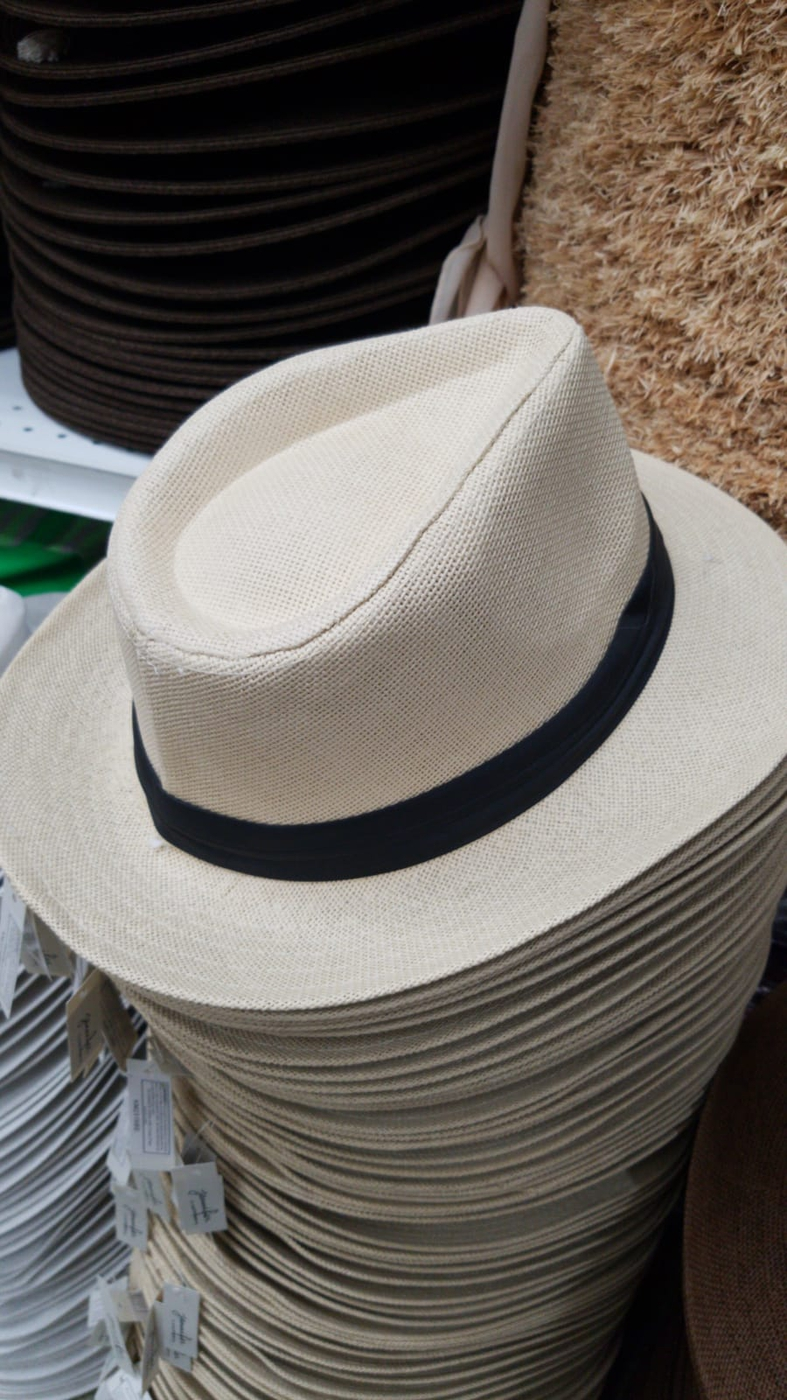 natural straw fedora hat  - orangeshine.com