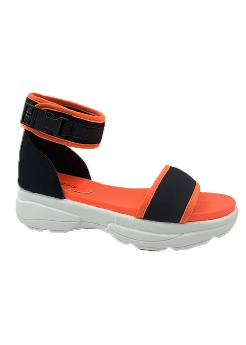 NEON QUILTED OPEN SNEAKER WITH ANKLE - orangeshine.com