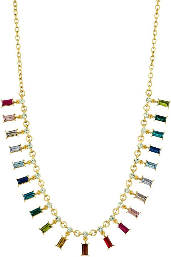 Baguette crystals bib necklace - orangeshine.com