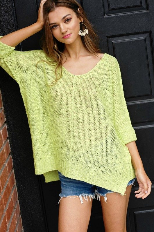Soft and Fine Luxe Sweater Top - orangeshine.com