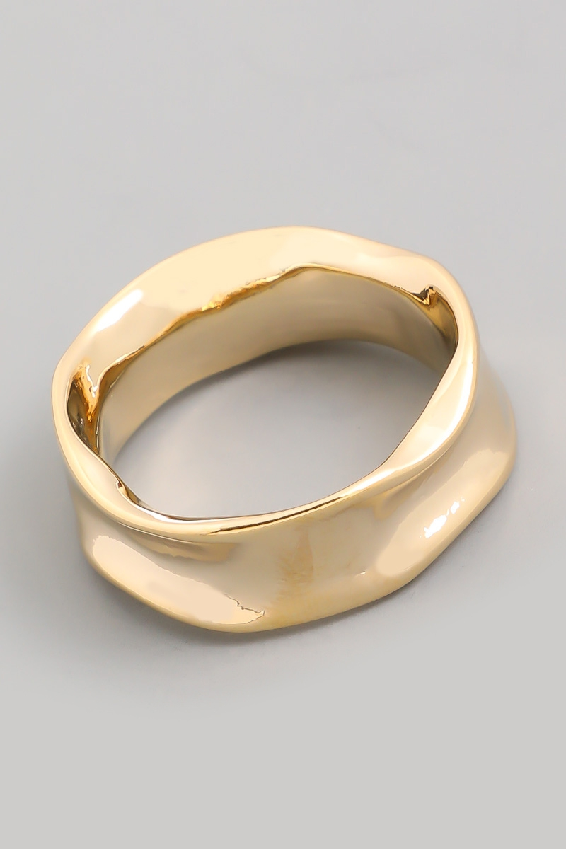 Warped Metal Fashion Ring - orangeshine.com