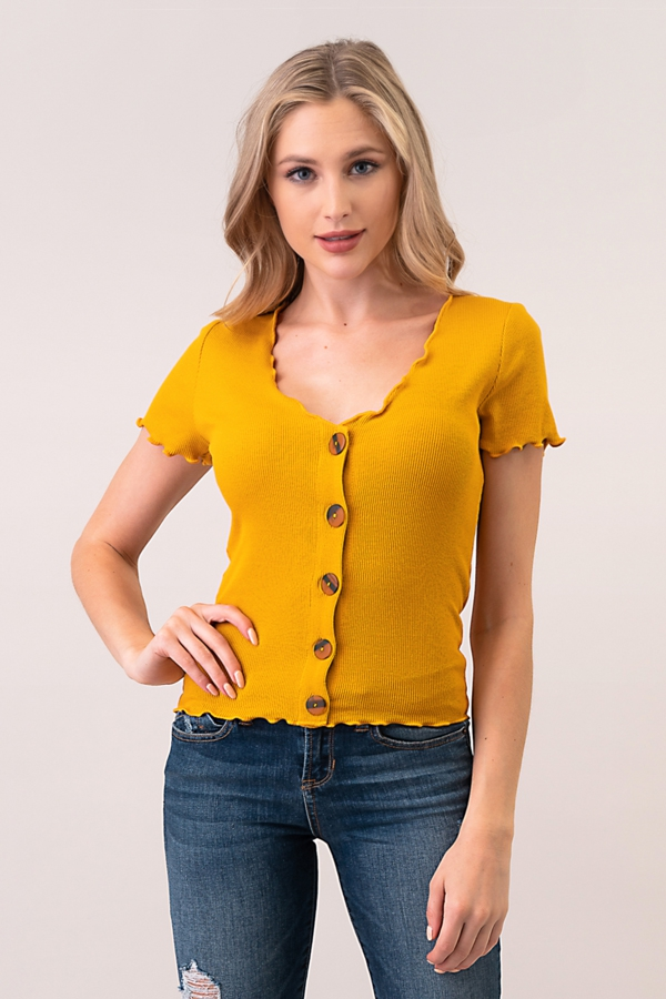 BUTTON LETTUCE MERROW DETAIL TOP - orangeshine.com