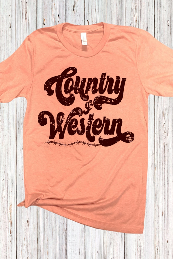 Country and Western Soft Tee - orangeshine.com