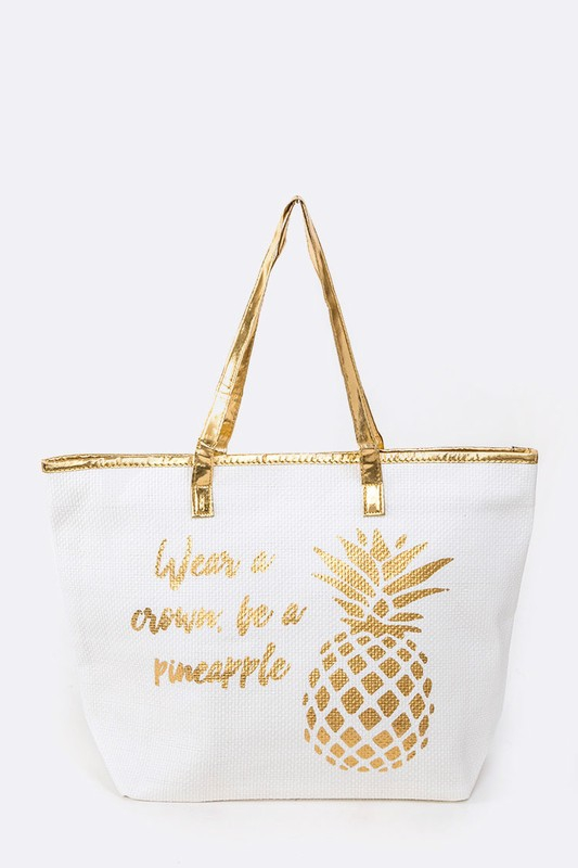 Wear A Crown Be Pineapple Metallic P - orangeshine.com