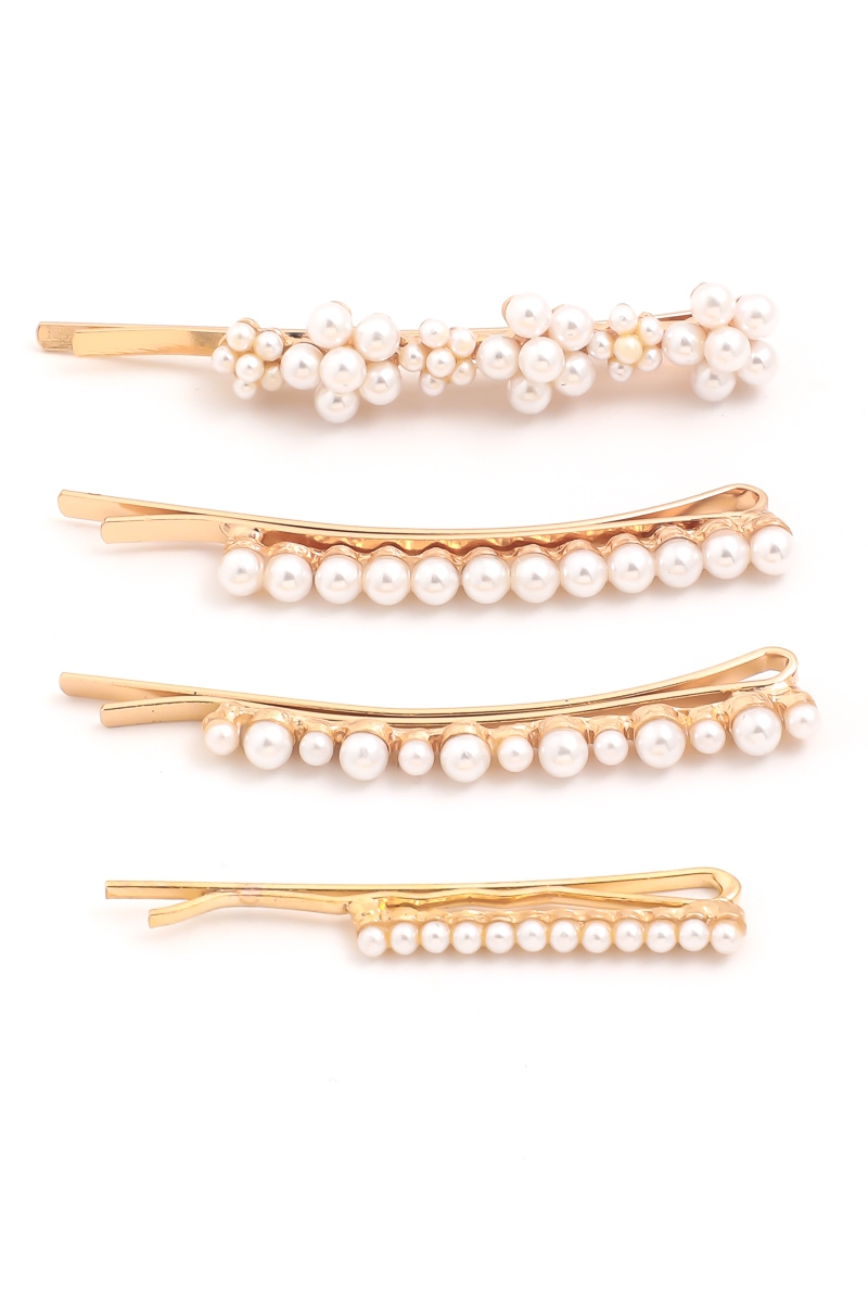 Multi Pearl Hair Pin Set - orangeshine.com
