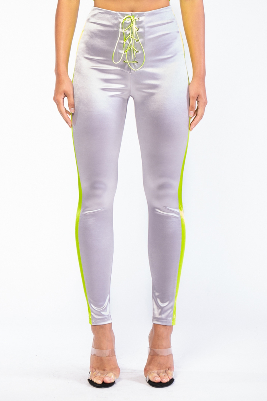 SATIN LACE UP PANTS - orangeshine.com