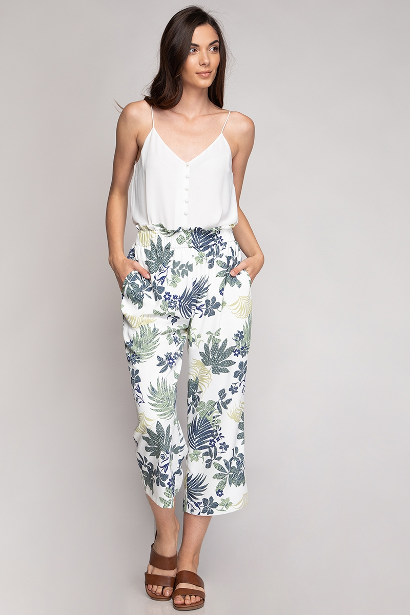 CROP WIDE LEG PANTS - orangeshine.com