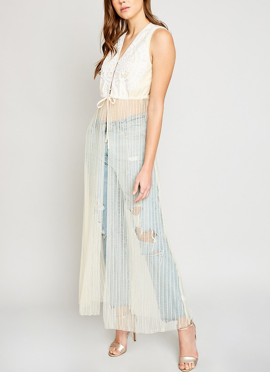 Sleeveless Mesh Duster - orangeshine.com