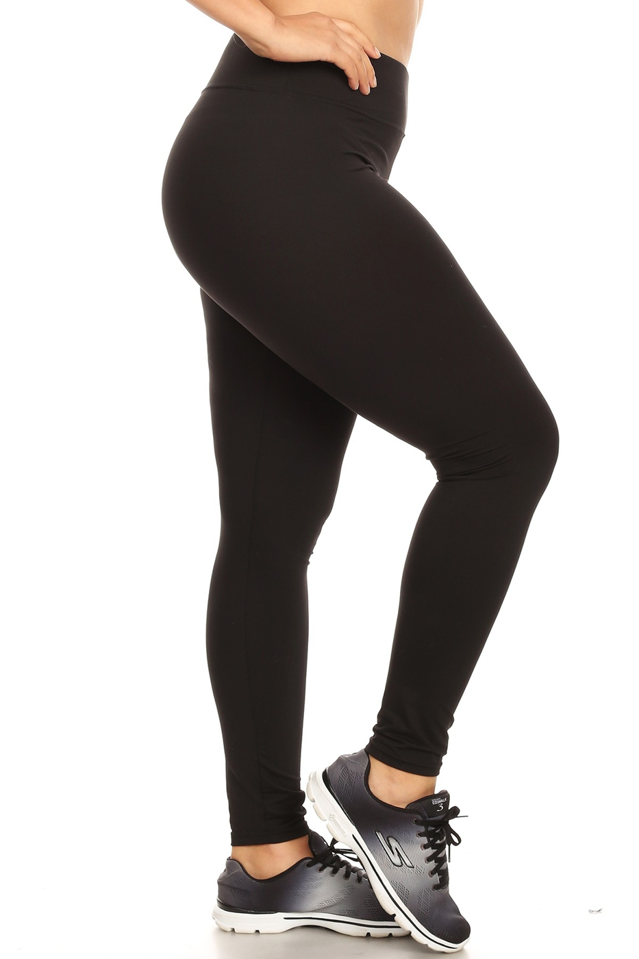 Plus Size Black Sports Leggings Yoga - orangeshine.com