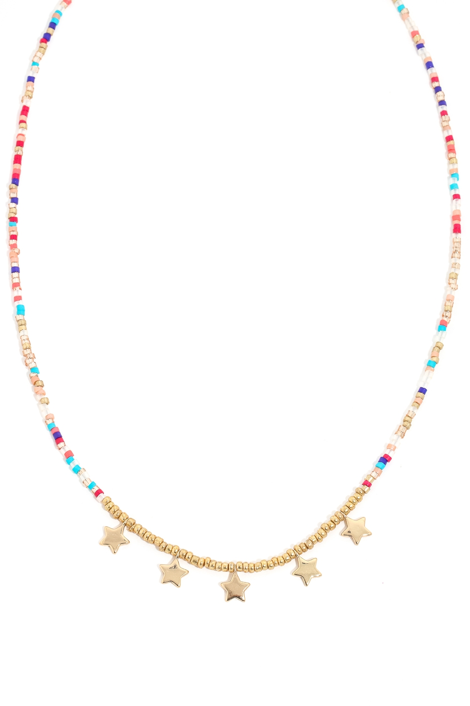 Dainty Beaded Star Charm Choker - orangeshine.com
