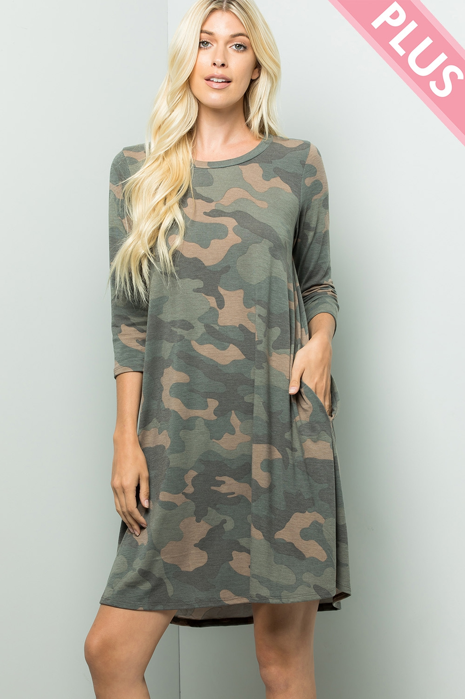 Camouflage pocket dress - orangeshine.com