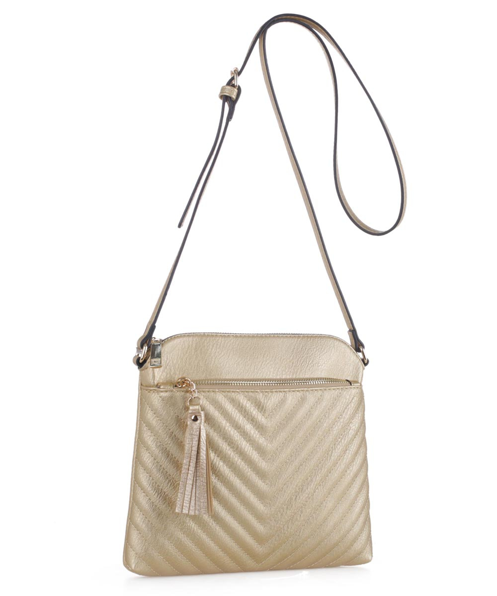 Chevron Quilted Crossbody Bag  - orangeshine.com