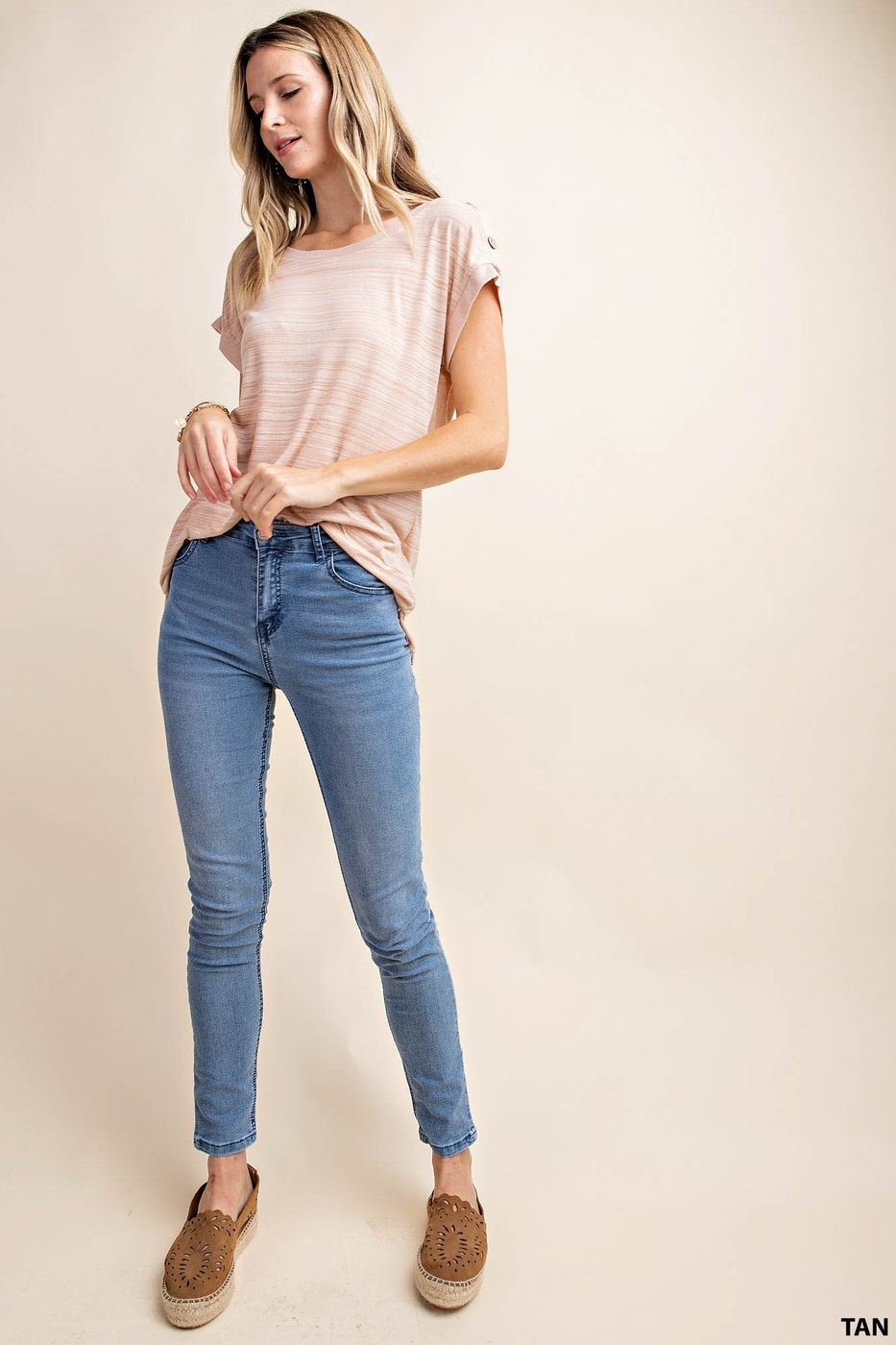 ONE SHOULDER BUTTON DOWN T-SHIRT TOP - orangeshine.com
