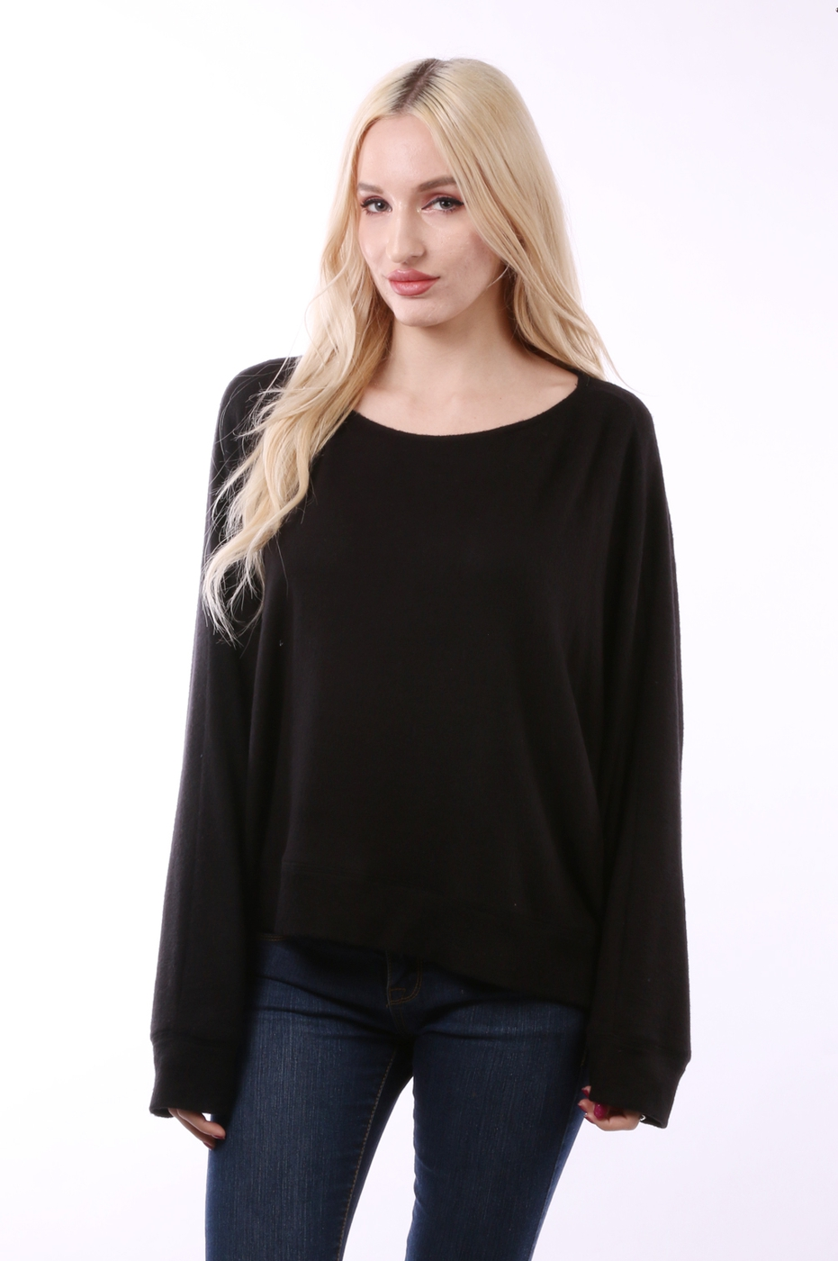 Brushed Round Neck Top - orangeshine.com