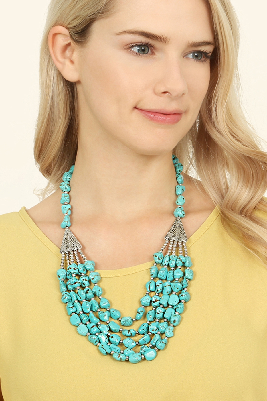 TURQUOISE STATEMENT NECKLACE - orangeshine.com