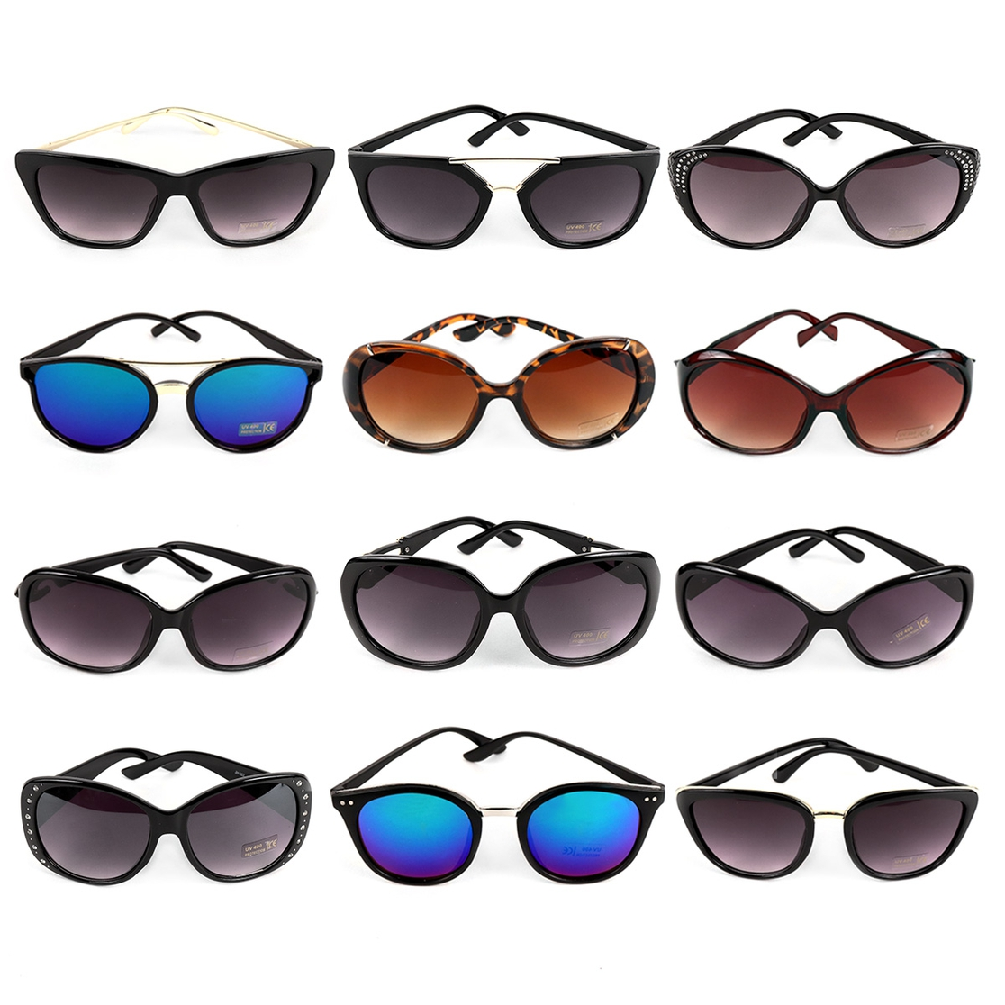 12pc Assorted Fashion Sunglasses - orangeshine.com