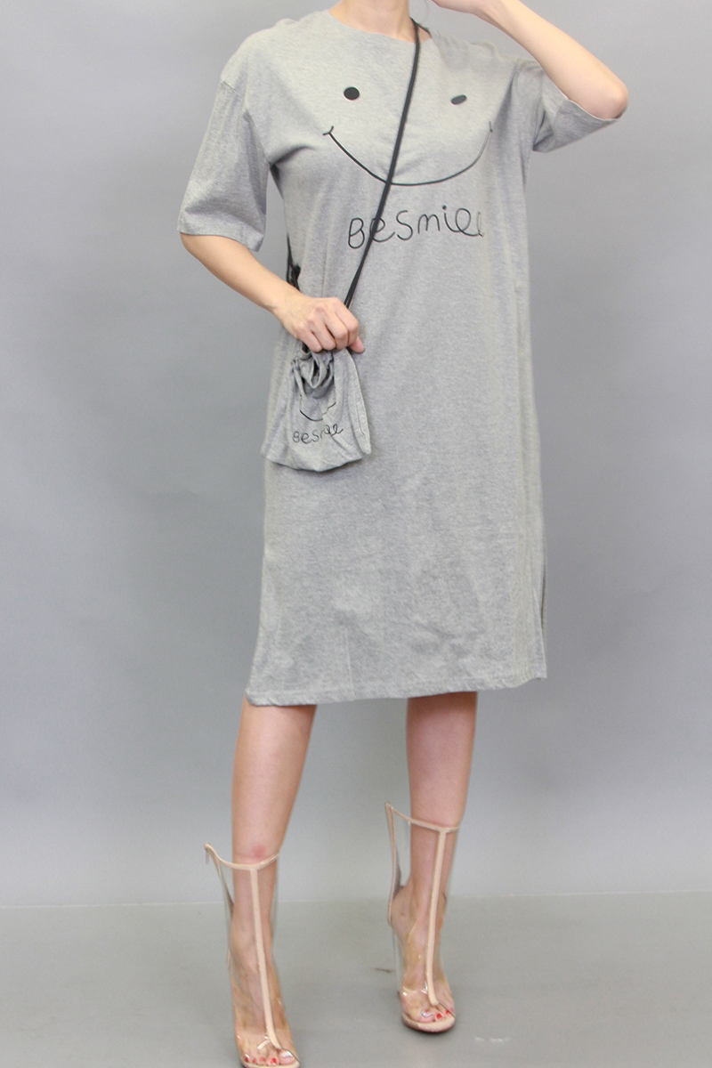 BE SMILE BOXY CASUAL DRESS - orangeshine.com