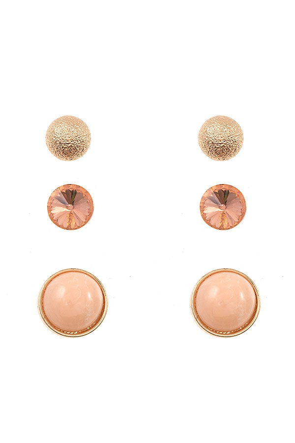 MIX STUDDED POST EARRING - orangeshine.com