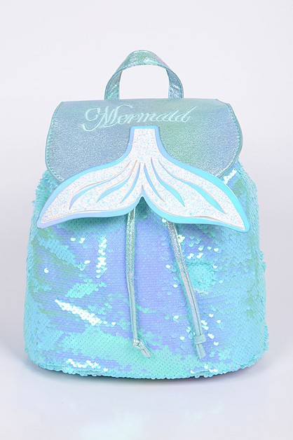 Mermaid Sequin Backpack - orangeshine.com
