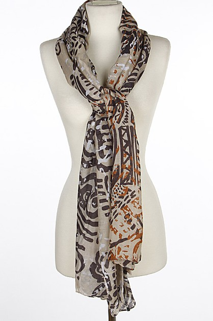 Patterned Trendy Scarf 6IBD - orangeshine.com