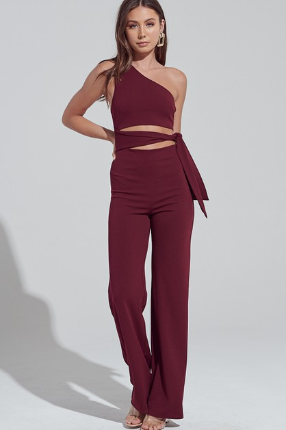ONE SHOULDER JUMPSUIT - orangeshine.com