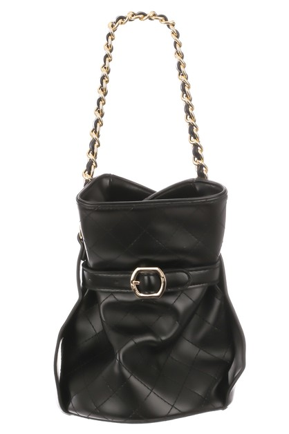 Quilted Fashion Bucket Bag - orangeshine.com