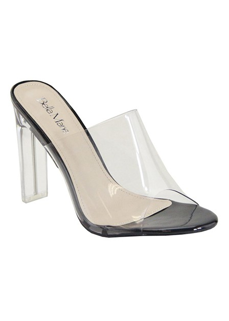 PEEP TOE HIGH HEEL SLIP ON CLEAR - orangeshine.com