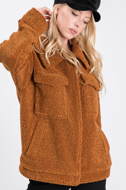 FAUX LAMB FUR HAIRLY JACKETS - orangeshine.com