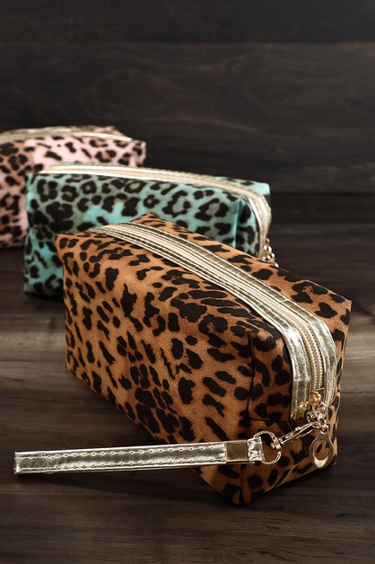 Leopard Travel Makeup Bag  - orangeshine.com